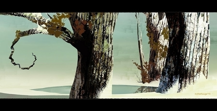 Winter Lake. Personal work  - background - artbythorhauge | ello