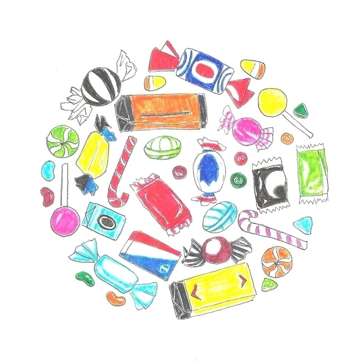 31. Candy - illustration, drawlloween2016 - hotshots2000 | ello
