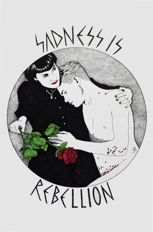 × Sadness Rebellion illustratio - thepilgrim-9803 | ello