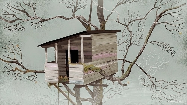 Tree House. Personal work  - background - artbythorhauge | ello