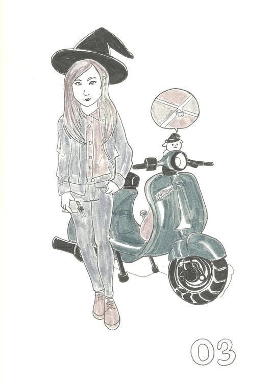 3. Vagabond Witch - illustration - hotshots2000 | ello