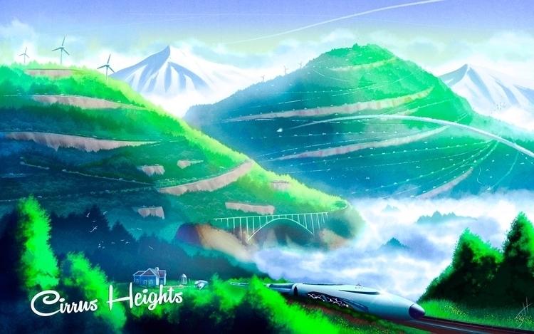 Cirrus Heights - illustration, conceptart - fxscreamer | ello