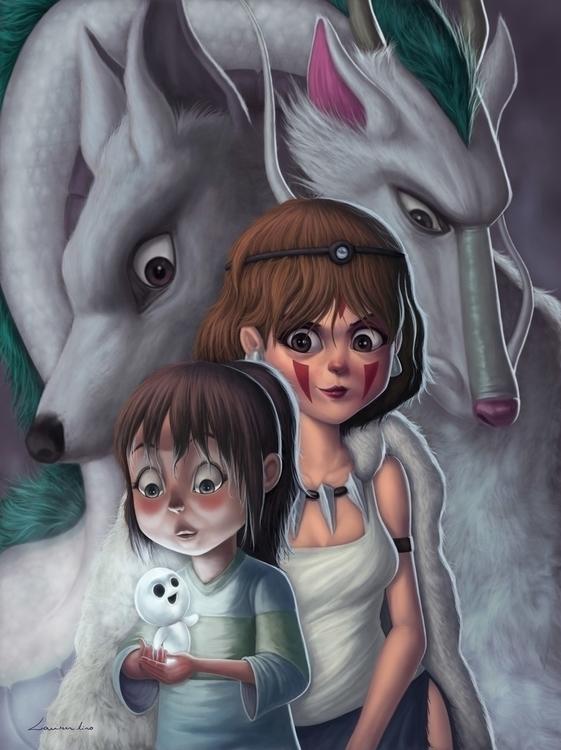 Studio Ghibli Tribute - chihiro - laurentino-8579 | ello