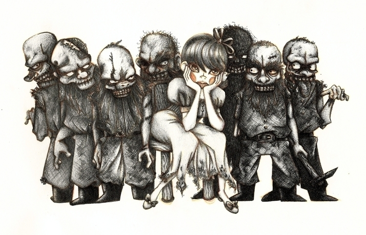 Death white zombies dwarfs - illustration - marmotavsmilky | ello