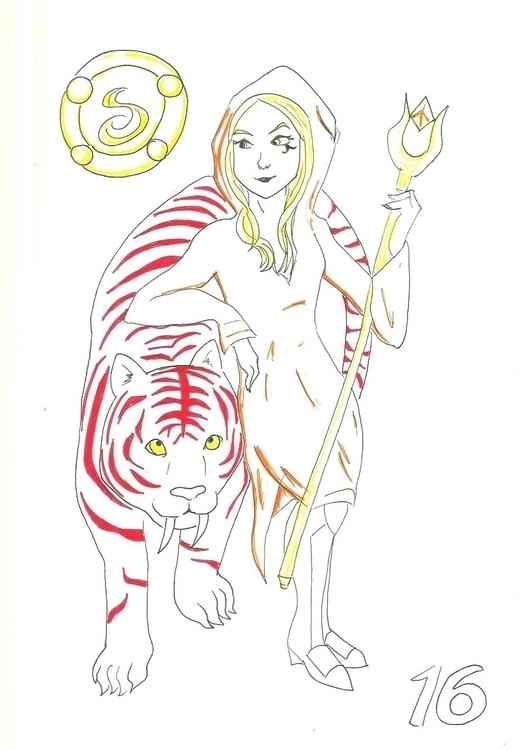 16. Beastmaster Witch - illustration - hotshots2000 | ello