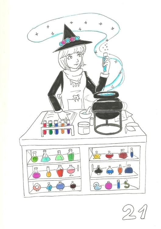 21. Potion Brewer - illustration - hotshots2000 | ello