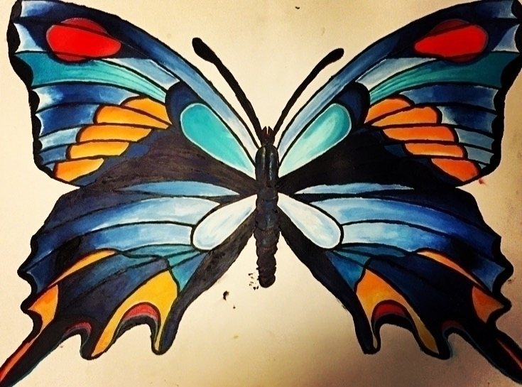 Acrylic, wingspan 28x 22 - acrylic - taylorfiltsch | ello