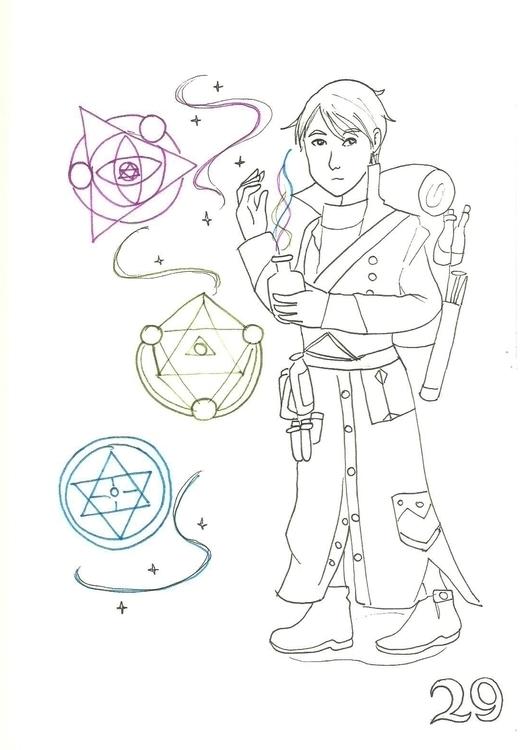 29. Alchemist - illustration, inktober2016 - hotshots2000 | ello