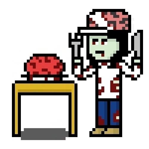 8-bit eating - pixelart, characterdesign - hotshots2000 | ello
