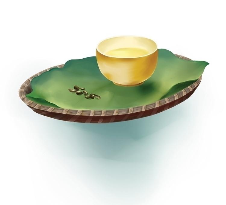 illustration packaging design - tea - diepduong   ello