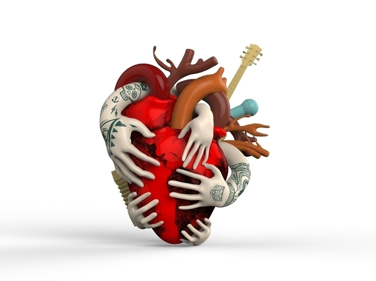 Heart Zbrush render Cinema4d - illustration - manufdez-1028 | ello