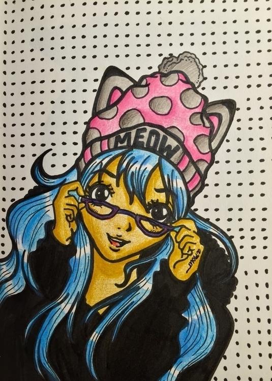 MEOW  - meow, anime, animeart, art - jessicaredmond | ello