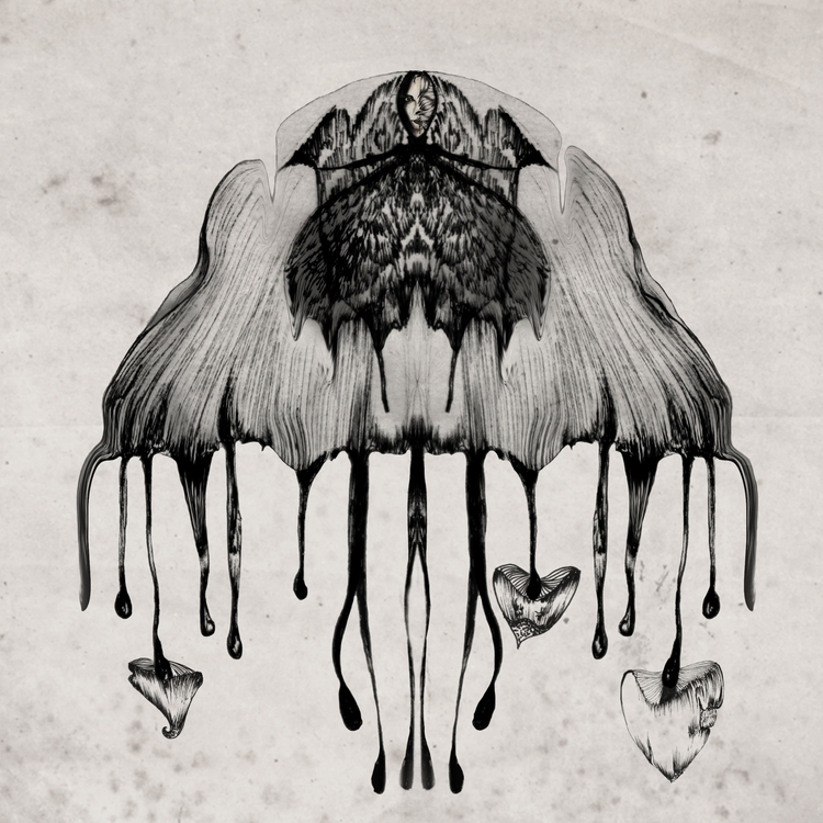 Inky - illustration, mushrooms, ink - ibtisam | ello