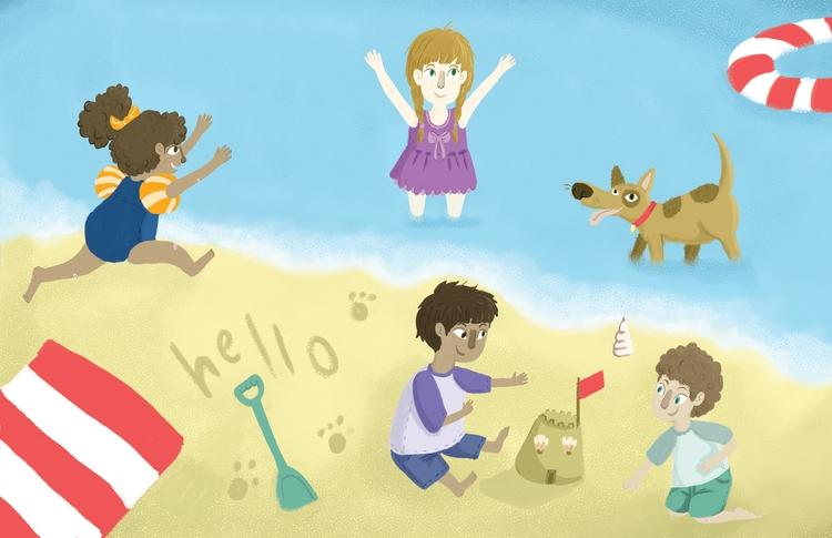 Beach fun - children'sillustration - ateepee | ello