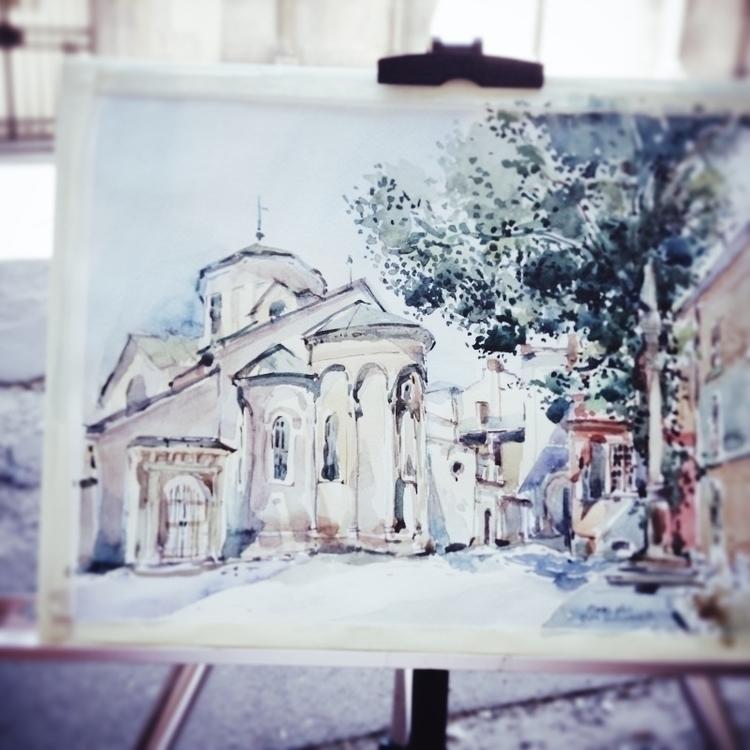drawing, watercolor, urbansketch - teawithrosejam | ello