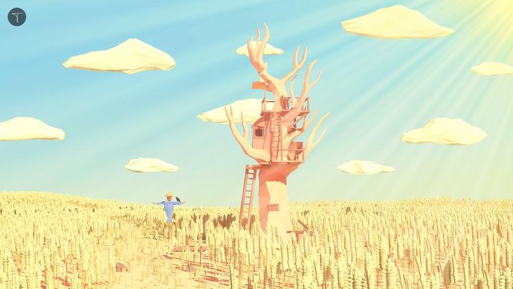 poly landscape process visit - illustration - timmiez | ello