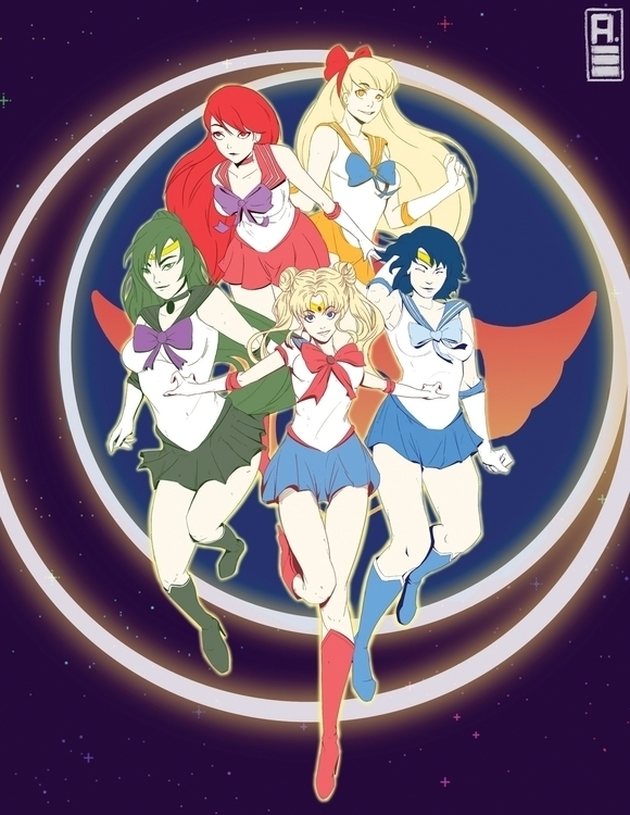 Sailor Moon gang - sailormoon, sailormoonfanart - ihuaj | ello