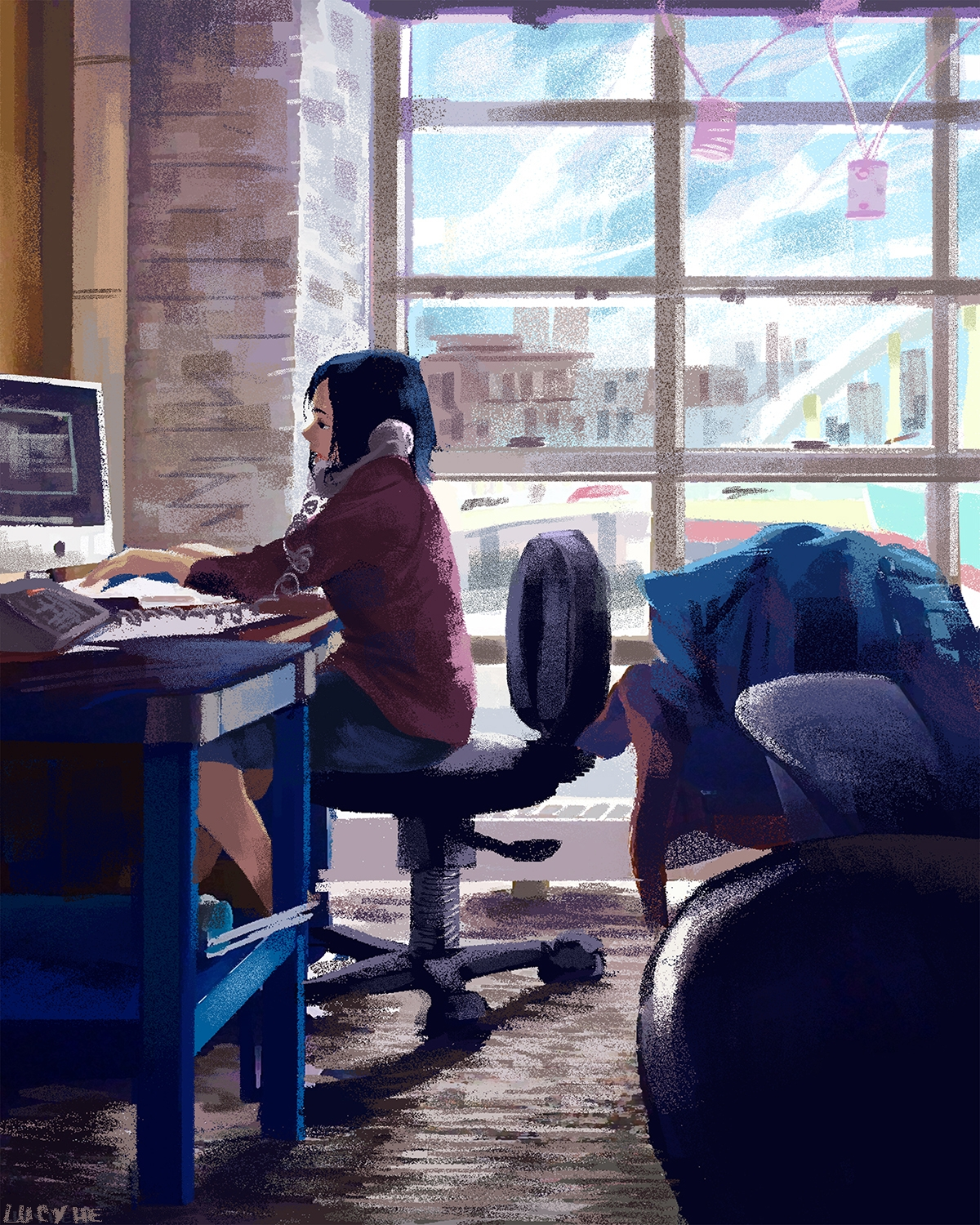 6th (final) windows series - illustration - lucyhe | ello