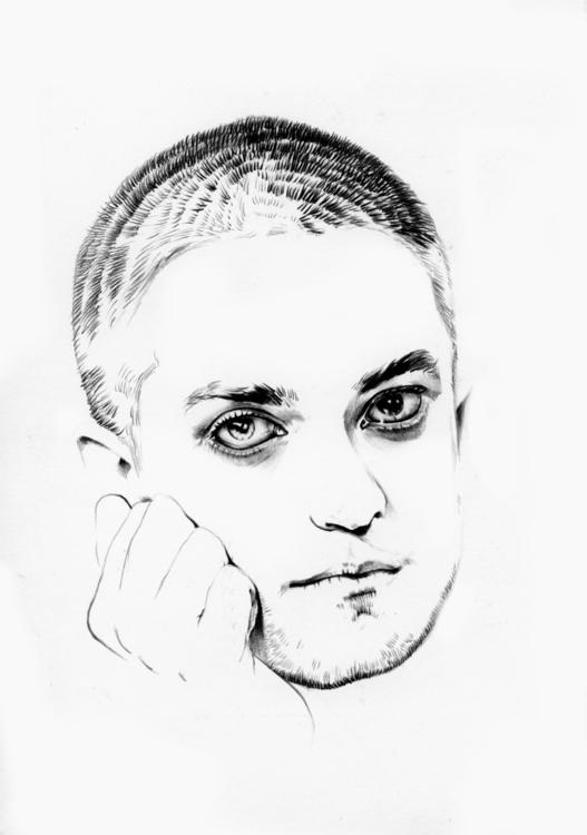 robertpattinson, portrait, pencil - adelina-9257 | ello