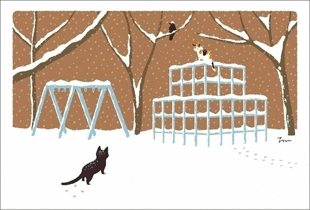 original illustration trip cat  - guraguri   ello