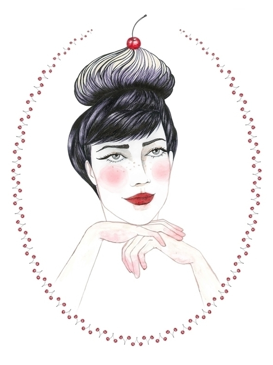 fashionillustration, cherries - anacaizerliu | ello