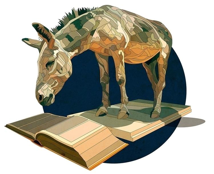 Donkey - illustration, vectorart - nickolayapraksin | ello