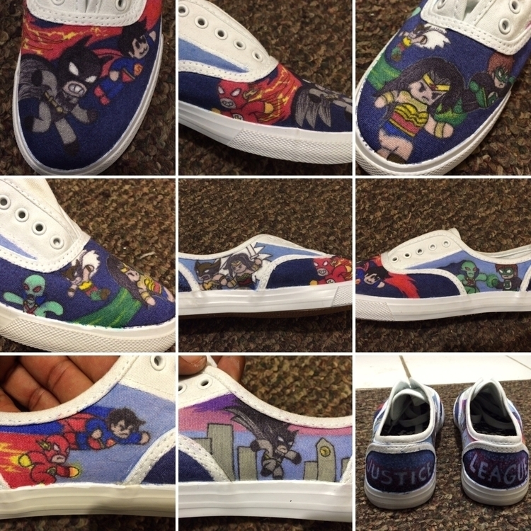 Justice League sneakers girlfri - iamsprout | ello