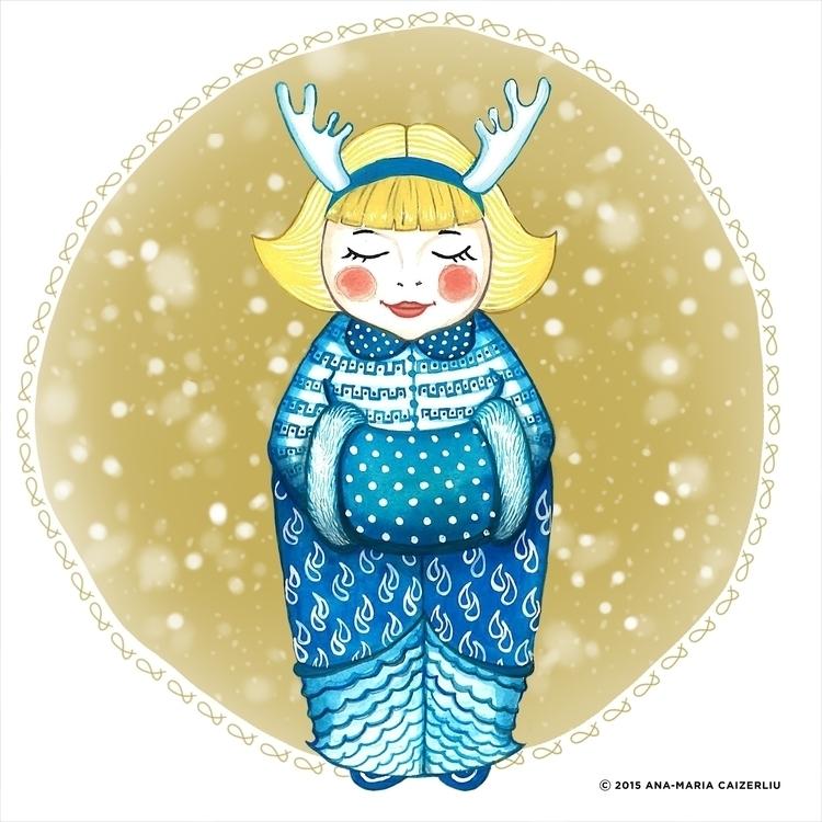 illustration, matroyshka, angel - anacaizerliu | ello
