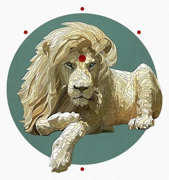Karma Lion - illustration, vectorart - nickolayapraksin | ello