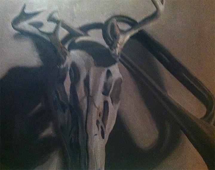 Skull Horn, 16x20 oil canvas - smhosier | ello