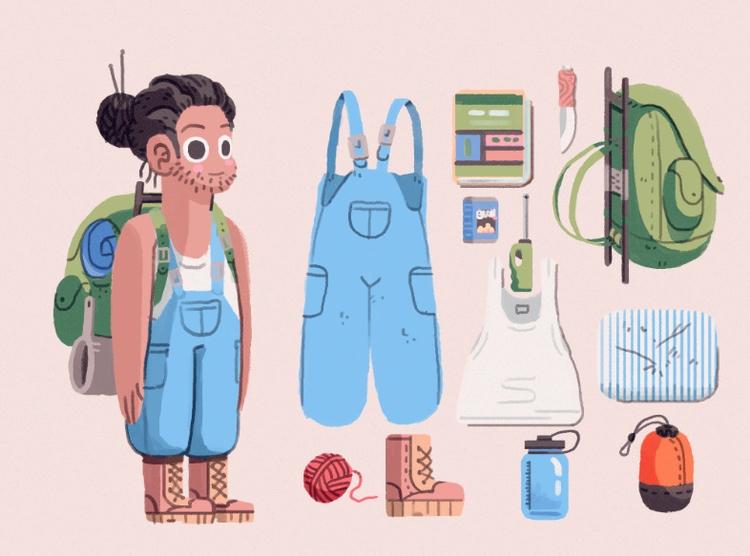 Nimmy character design - illustration - indiana_jonas | ello