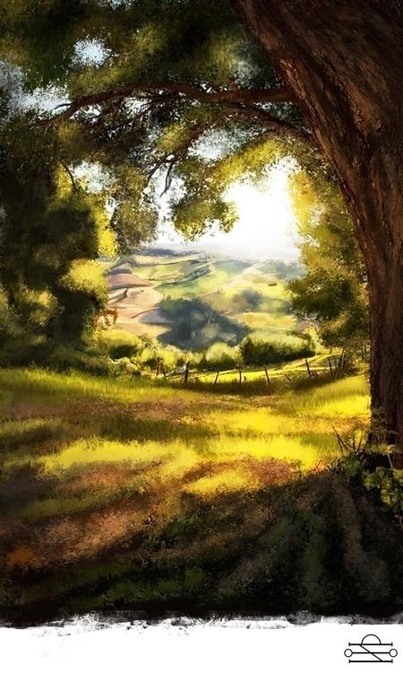 Landscape - 01, illustration, digitalart - cef-1340 | ello
