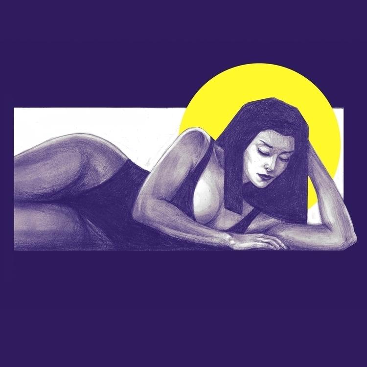 Sleepy - illustration, drawing, fineart - d6d7d8 | ello