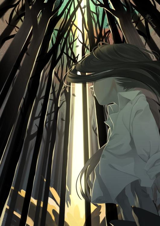 illustration, forest - meammy | ello