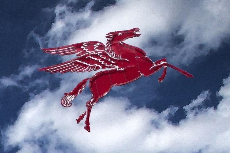 Pegasus Sky - pegasus, red, horse - voirlisa | ello