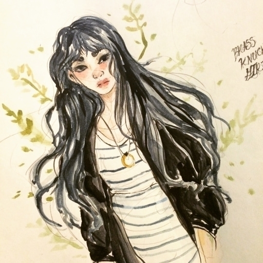 Random Girl - watercolor, illustration - imaniking | ello