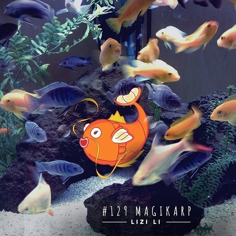 Pokemon - Magikarp - 129, illustration - lizili | ello