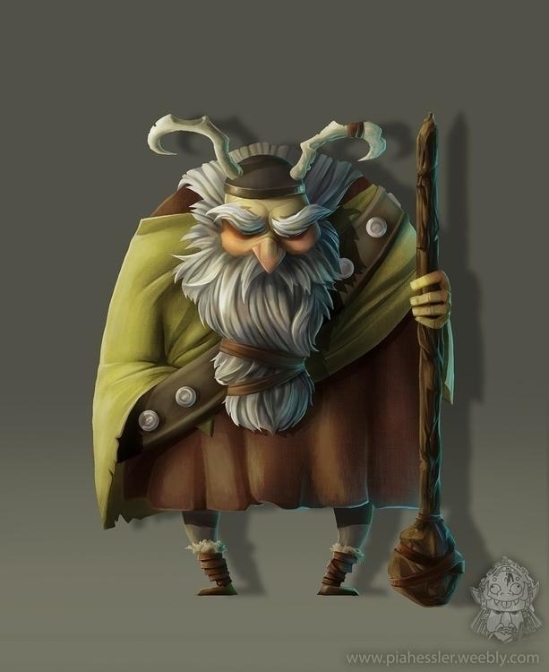 viking - characterdesign, gameart - piahessler | ello