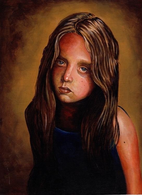 girl portrait acrylic canvas - painting - giulianobuffi | ello