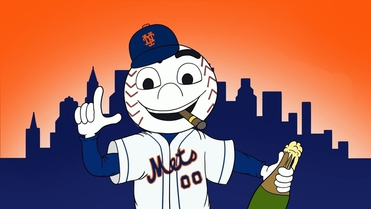 Mets World Series Birth Illustr - cslavin | ello