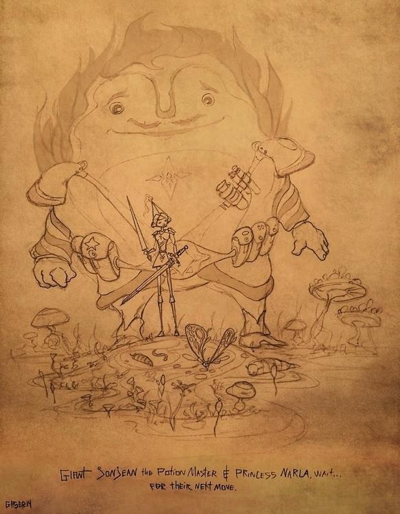 Giant Jonjean Princess Narla - sketch - mgaser | ello