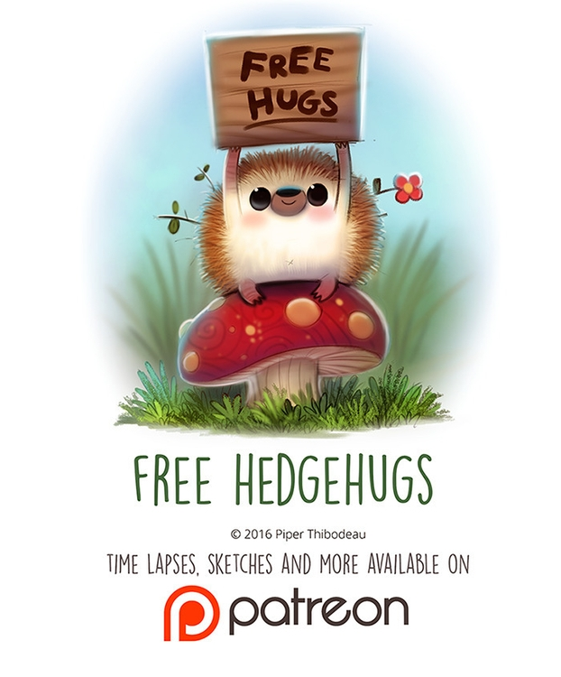 Day 1445. Free Hedgehugs - piperthibodeau | ello