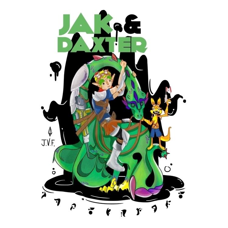 Jak Daxter - fanart, characterdesign - joniwaffle | ello