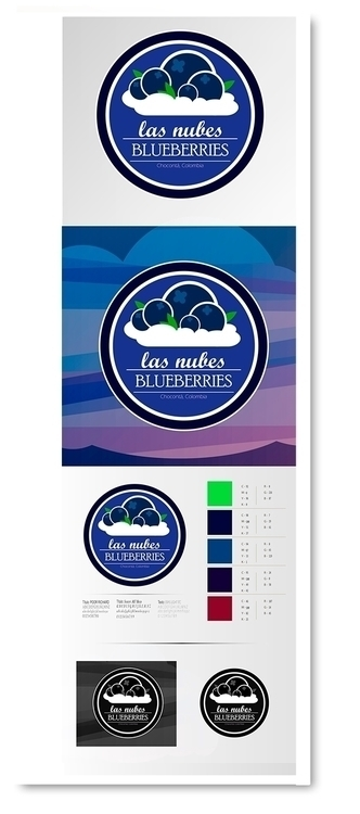 Las Nubes Blueberry logo - blueberries - jav4746 | ello
