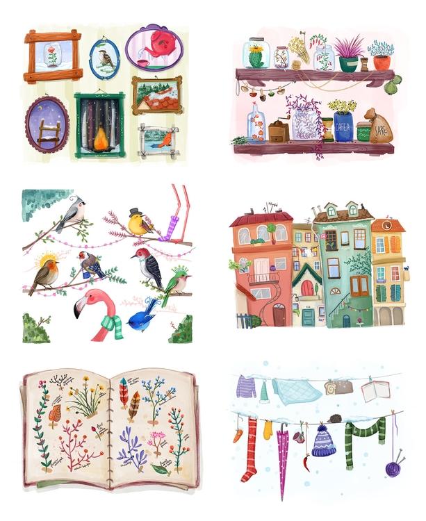 Calendar illustrations - calendar - danielasosa | ello