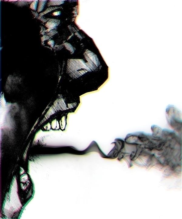 scream - illustration, fear - attianart | ello