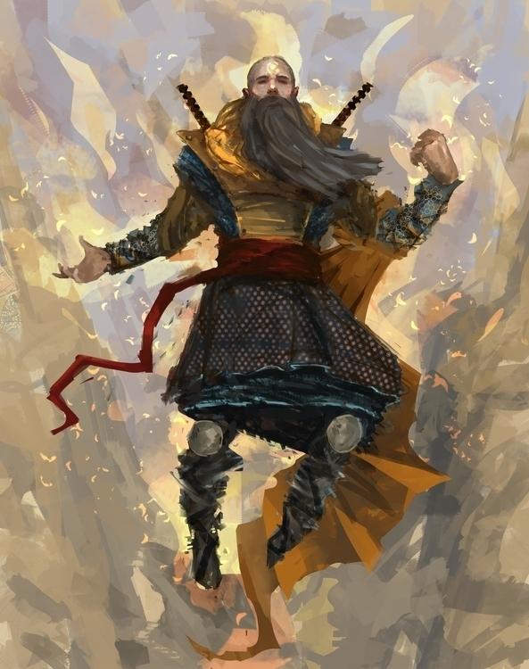 swordmaster, illustration - marcsampson   ello