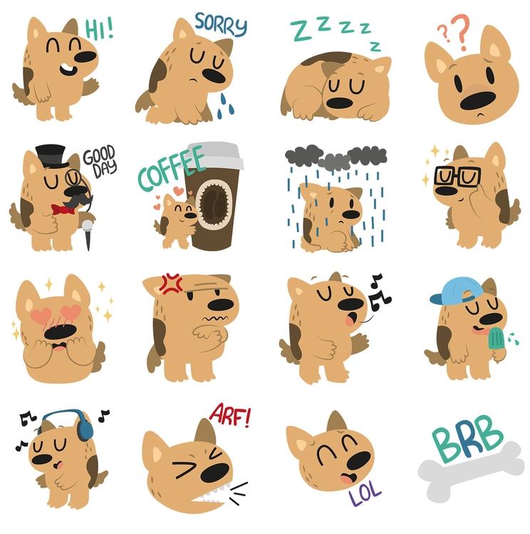 Digby Dog Sticker Set - Coco - stickers - clairestamper | ello
