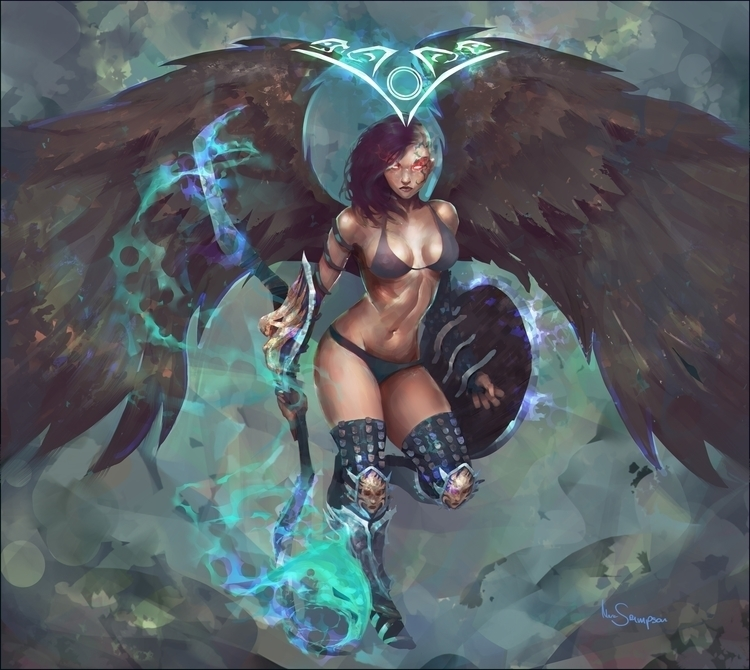 darkangel, angel, illustration - marcsampson | ello