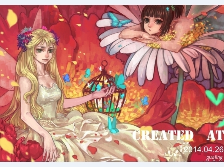 butterfly3 - illustration, painting - guojing | ello